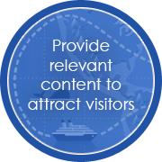 Provide relevant content to attractvisitors
